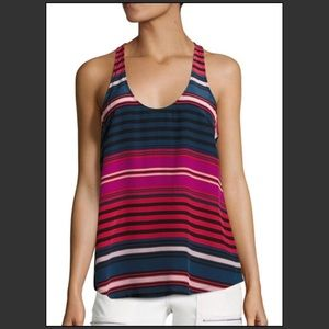 Joie Drew C 100% Silk Multi Color Tank Top